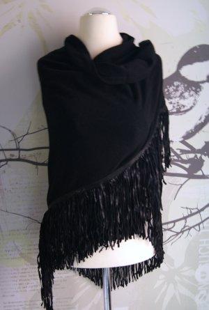 WAGs Sjaal met franjes zwart