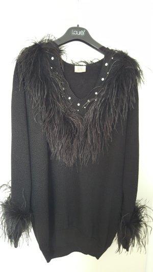 Wahnsinns Pullover mit Federn und Strass von Madeleine