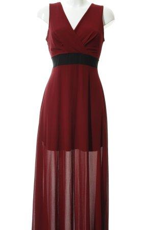 Wal G Abendkleid karminrot-schwarz Elegant