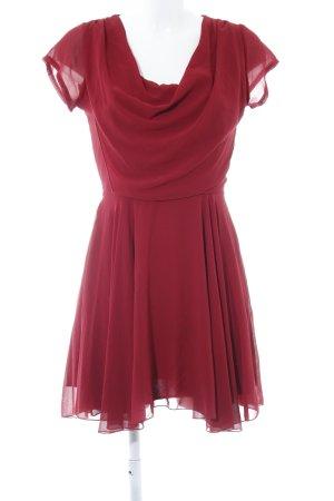 Wal G Vestido de chifón rojo oscuro elegante