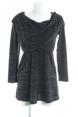 Wal G schulterfreies Kleid dunkelgrau meliert Casual-Look