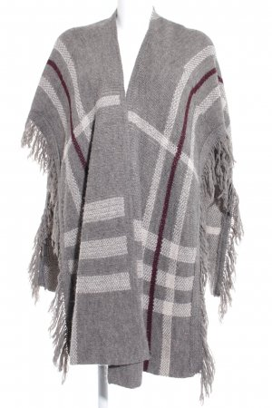 Wal G Strickponcho Karomuster Casual-Look