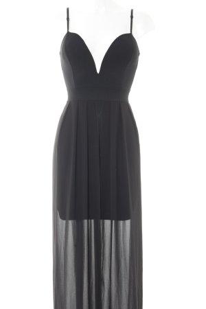 Wal G Vokuhila-Kleid schwarz Elegant