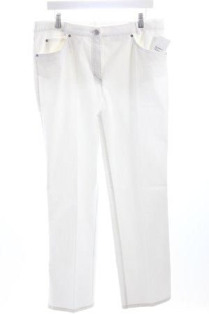 Walbusch Bundfaltenhose weiß schlichter Stil