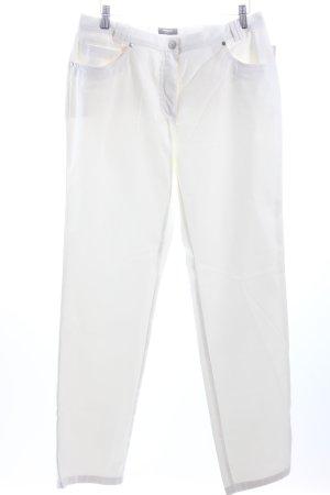Walbusch Five-Pocket-Hose weiß schlichter Stil