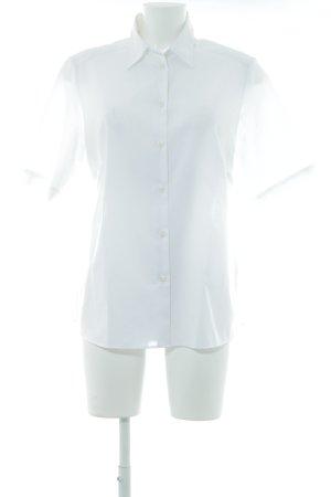Walbusch Camicia a maniche corte bianco bottoni ricoperti