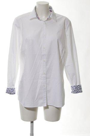 Walbusch Langarmhemd weiß-blau Business-Look