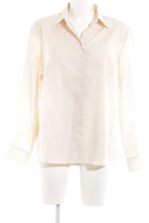 Walbusch Langarmhemd creme-wollweiß Streifenmuster Business-Look