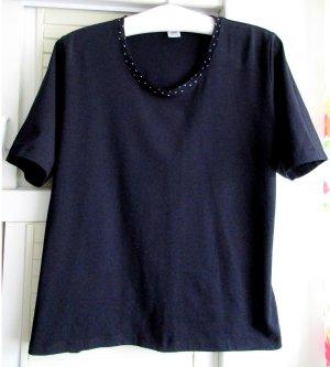 Walbusch Schmuck Shirt Blusenshirt T-Shirt dunkelblau blau