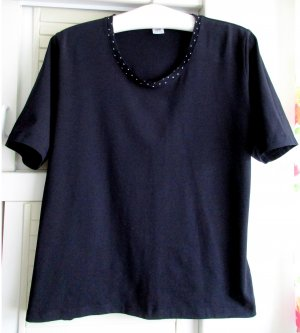 Walbusch Schmuck Shirt Blusenshirt T-Shirt dunkelblau blau Gr. 44