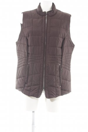 Walbusch Quilted Gilet brown quilting pattern simple style