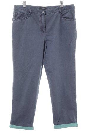 Walbusch Straight-Leg Jeans stahlblau Casual-Look