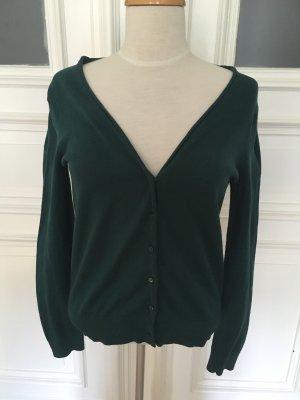 Basic Veste en tricot vert forêt