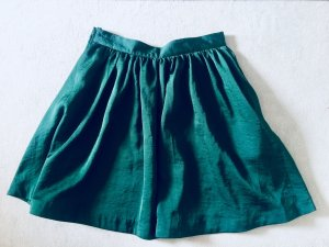 H&M Circle Skirt forest green polyester