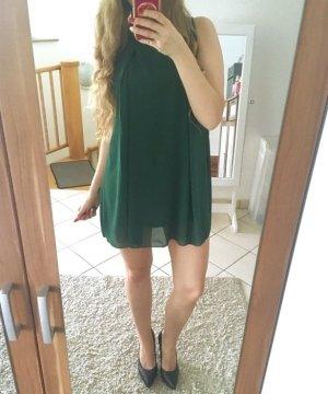 Waldgrünes Kleid Chiffon Neu