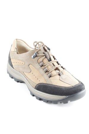Waldläufer Schnürschuhe beige-schwarz sportlicher Stil