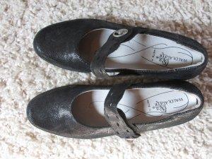 Waldläufer Schuhe mit Spange schwarz Gr.42