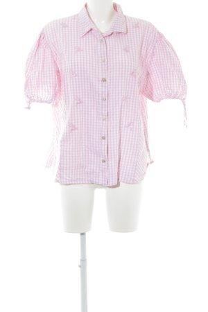 waldorff Chemise à manches courtes rose clair-blanc motif à carreaux