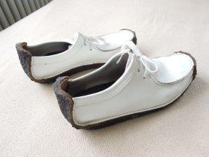 Wallabees Clark Original Echtleder Schuh Weiß Gr. 39