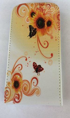Wallet Flipcase *Motorola Moto G* Weiß mit Blumenmuster