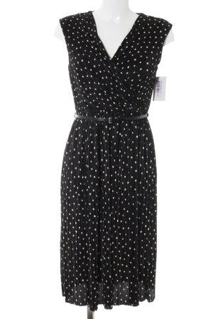 Wallis Abendkleid schwarz-creme Punktemuster 20ies-Stil