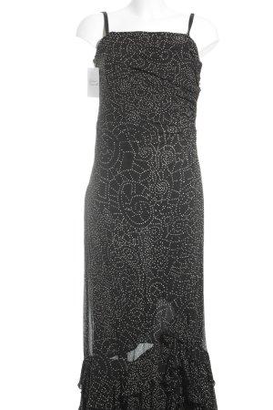 Wallis Abendkleid schwarz-weiß Punktemuster Romantik-Look