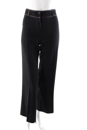 Pantalon à pinces noir-blanc