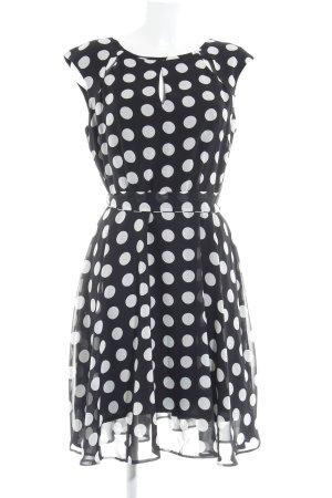 Wallis Chiffonkleid schwarz Punktemuster Elegant