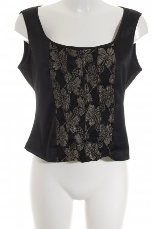 Wallis Corsagen Top schwarz-goldfarben Party-Look