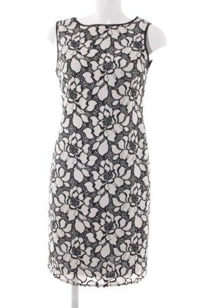 Wallis Etuikleid schwarz-weiß florales Muster Business-Look
