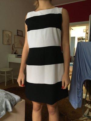 wallis kleid mit schwarz weissen balken