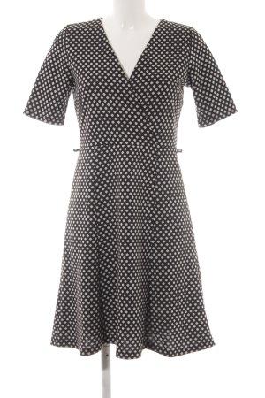 Wallis Kurzarmkleid schwarz-hellgrau Elegant