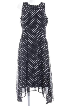 Wallis Kurzarmkleid schwarz-weiß Punktemuster Elegant