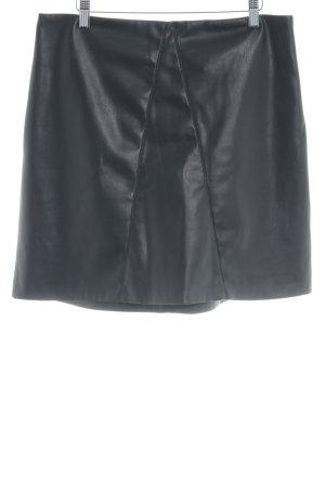Wallis Leren rok zwart elegant