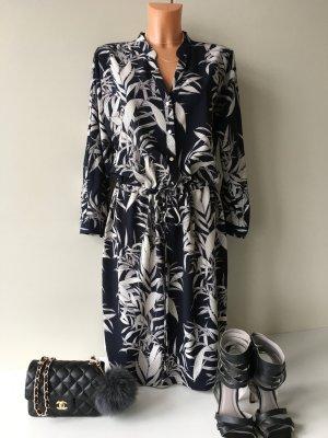 Wallis leichte Long Tunika Kleid Gr. 38 dunkel Blau NP 89€