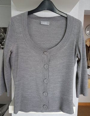 Wallis Leichter Cardigan Strickjacke in Grau 3/4 Ärmel - 36