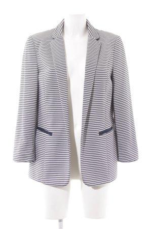Wallis Long-Blazer dunkelblau-weiß Streifenmuster schlichter Stil