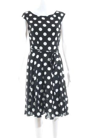 Wallis Petticoatkleid schwarz-weiß Punktemuster 50ies-Stil