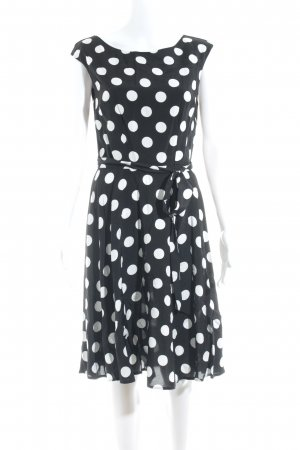 Wallis Petticoat Dress black-white spot pattern '50s style