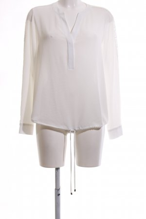 Wallis Schlupf-Bluse weiß Blumenmuster Business-Look