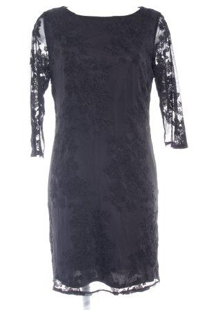 Wallis Spitzenkleid schwarz Blumenmuster Elegant