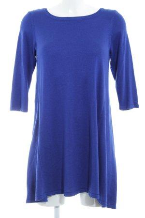 Wallis Strickkleid blau meliert schlichter Stil