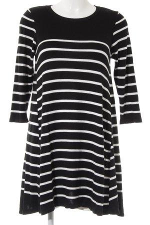 Wallis Strickkleid schwarz-weiß Streifenmuster Casual-Look