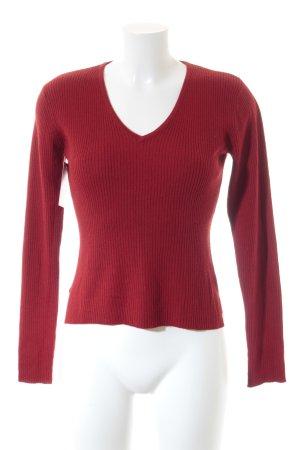 Wallis V-Ausschnitt-Pullover ziegelrot Casual-Look