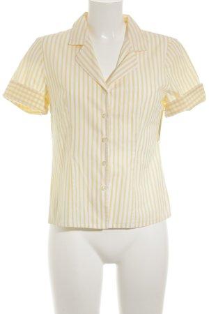 Wallmann Kurzarmhemd weiß-dunkelgelb Streifenmuster Street-Fashion-Look