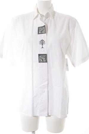 Wallmann T-Shirt weiß-waldgrün Vintage-Artikel