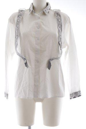 Wallmann Folkloristische blouse wit casual uitstraling