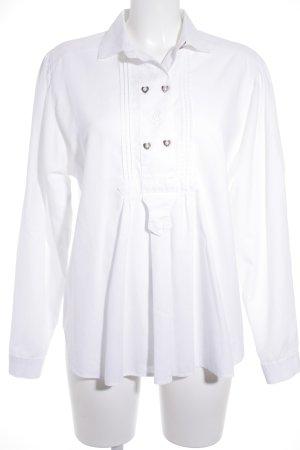 Wallmann Blusa tradizionale bianco stile classico