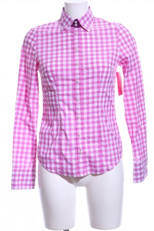 Wallmann Traditional Shirt pink-white allover print business style