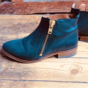 Walter Bauer Ankle Boots black-gold-colored leather
